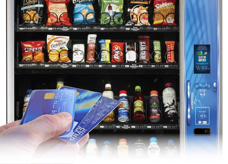 Servomat Vending Service offers cashless payment options which accept credit cards on Vending Machines in Colorado